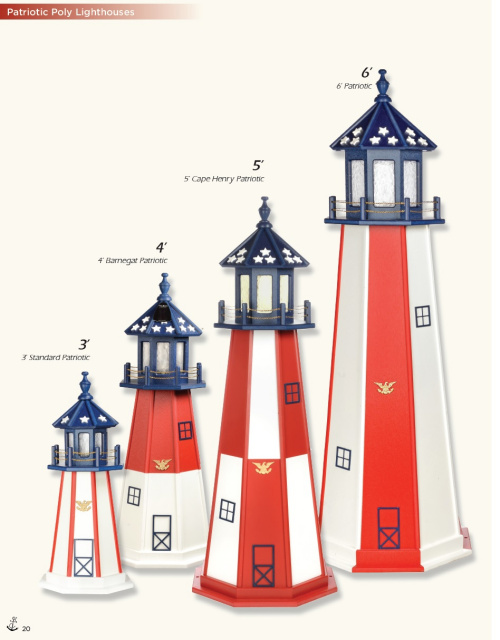 Patriotic Poly Lighthouses