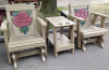 Rose Gliders with Freestanding Table