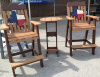 Texas Bar height Chairs with side table