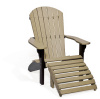 Fan Back Chair and Ottoman