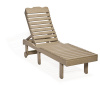 High back Chaise Lounge - Poly