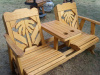Palm Tree Settee Glider-Wood